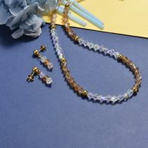 Conjunto de Collar y Aretes en acero inoxidable -SSCSG18-16810