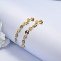 Aretes de 18K Dorado Acero Inoxidable -SSEGG143-17116