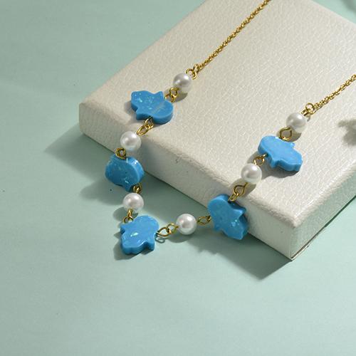 Collares de Opal Imitacion -SSNEG142-17485