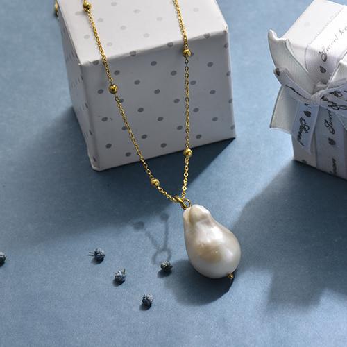 Collares de Perla Agua Dulce -SSNEG142-17438
