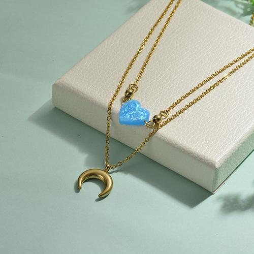 Collares de Opal Imitacion -SSNEG142-17487