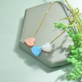 Collares de Opal Imitacion -SSNEG142-17480