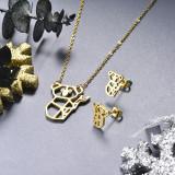 Juego de joyas de acero inoxidable -SSCSG143-19154TDL