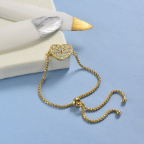 pulseras de 18k oro circones para mujeres -BRBTG154-19043