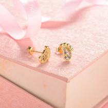 aretes de 18k oro circones para mujeres -BREGG154-18815