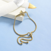 pulseras de 18k oro circones para mujeres -BRBTG154-19047
