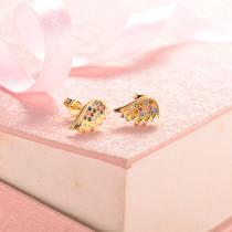 aretes de 18k oro circones para mujeres -BREGG154-18818