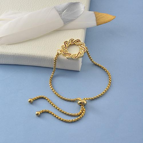 pulseras de 18k oro circones para mujeres -BRBTG154-19053