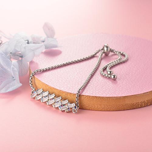 pulseras de 18k oro circones para mujeres -BRBTG154-18909