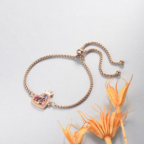 pulseras de 18k oro circones para mujeres -BRBTG154-19095
