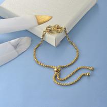 pulseras de 18k oro circones para mujeres -BRBTG154-19093