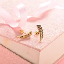 aretes de 18k oro circones para mujeres -BREGG154-18817