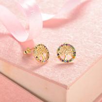 aretes de 18k oro circones para mujeres -BREGG154-18814