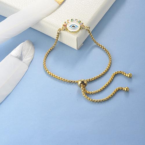 pulseras de 18k oro circones para mujeres -BRBTG154-19091