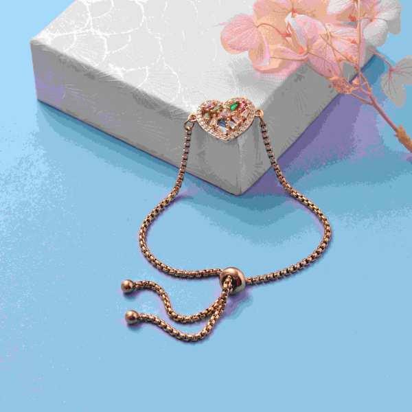 pulseras de 18k oro circones para mujeres -BRBTG159-19579