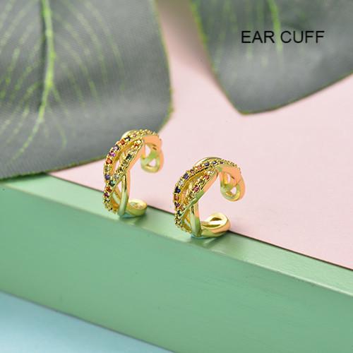 Ear Cuff Aretes de circones en bronce -BREGG155-19535