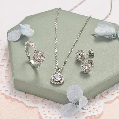 conjunto de joyeria de esmalte en Bronce -BRBEG179-19799