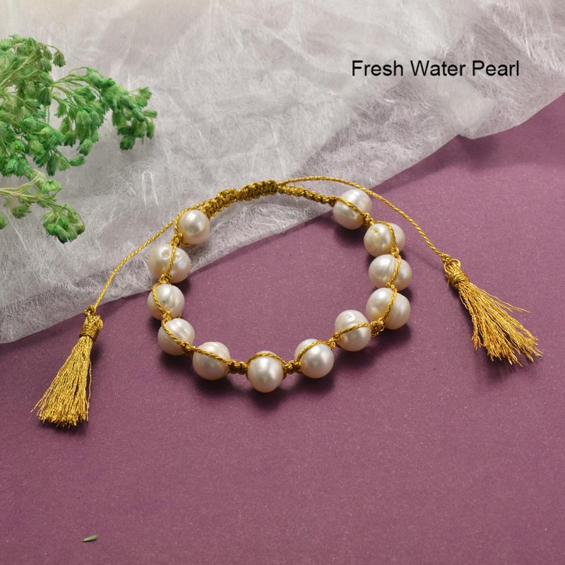 Pulseras de Perlas con Circones Brillante -BRBTG142-19855