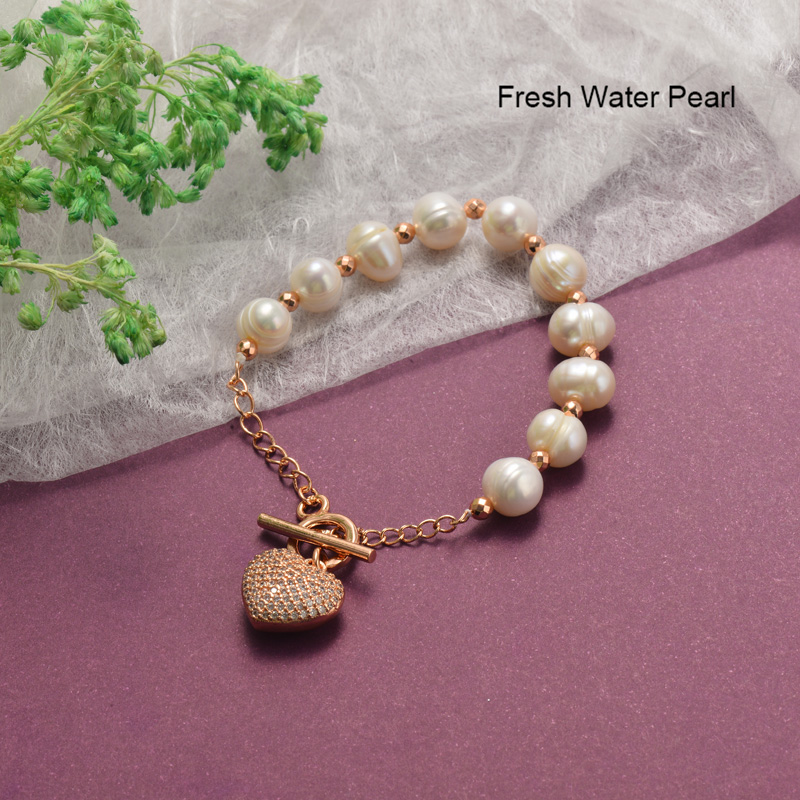 Pulseras de Perlas con Circones Brillante -BRBTG142-19853