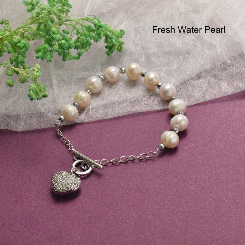 Pulseras de Perlas con Circones Brillante -BRBTG142-19854