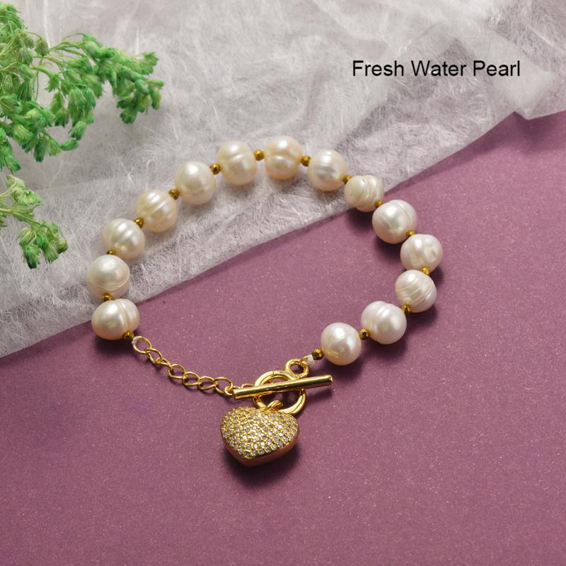 Pulseras de Perlas con Circones Brillante -BRBTG142-19852
