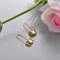 Stainless Steel Drop Earrings -SSEGG143-15842-G