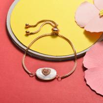 Brass Charm Bracelets -SSBTG141-20380J