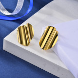 Stainless Steel Stud Earrings -SSEGG143-15917-G