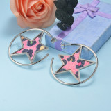 Stainless Steel Drop Earrings -SSEGG143-15912-S