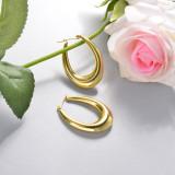 Stainless Steel Drop Earrings -SSEGG143-15916-G