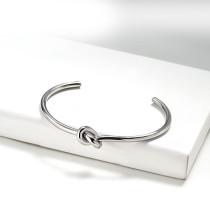 Stainless Steel Silver Bangle Bracelet -SSBTG143-15894-S