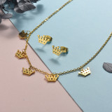 Stainless Steel Jewelry Sets -SSCSG126-20303BDW