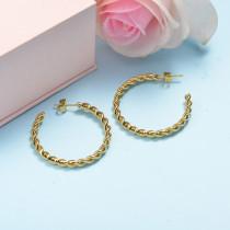 Stainless Steel Hoop Earrings -SSEGG143-15847-G