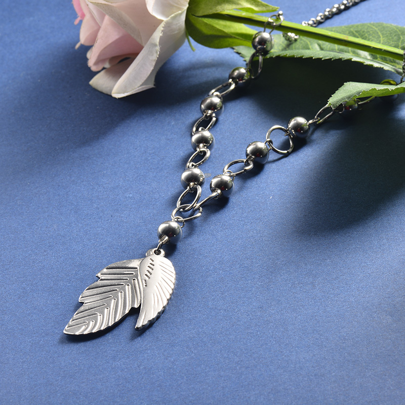 Collar de Acero Inoxidable para Mujer -SSNEG28-20366