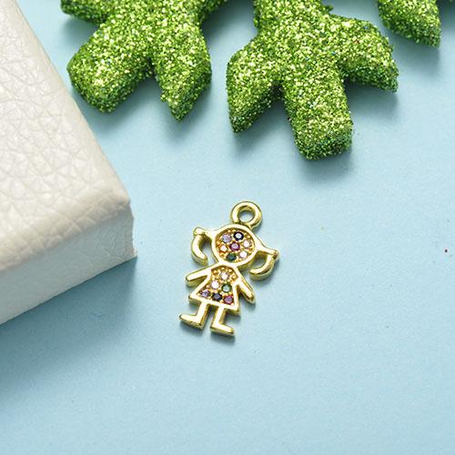 Dijes de Oro con Circones Multicolores -BRPTG155-20495