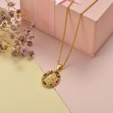 Collar de Oro con Circones -BRNEG155-20403