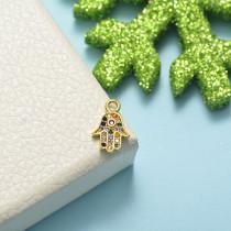 Dijes de Oro con Circones Multicolores -BRPTG155-20488