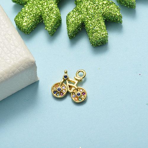 Dijes de Oro con Circones Multicolores -BRPTG155-20494