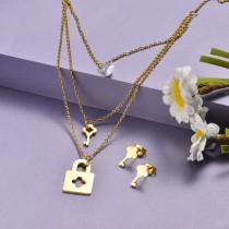 Conjunto de Acero Inoxidable para Mujer -SSCSG173-20919