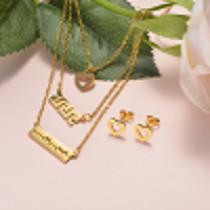 Conjunto de Acero Inoxidable para Mujer -SSCSG173-20909
