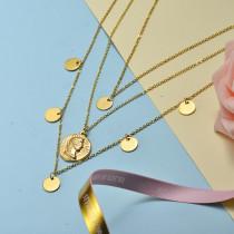 Collar de Acero Inoxidable para Mujer -SSNEG143-21066