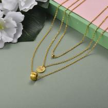 Collar de Acero Inoxidable para Mujer -SSNEG142-20950