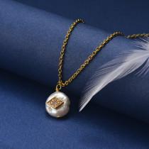 Collar de Oro con Circones -SSNEG18-20831