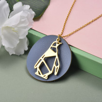 Collar de Acero Inoxidable para Mujer -SSNEG142-20968