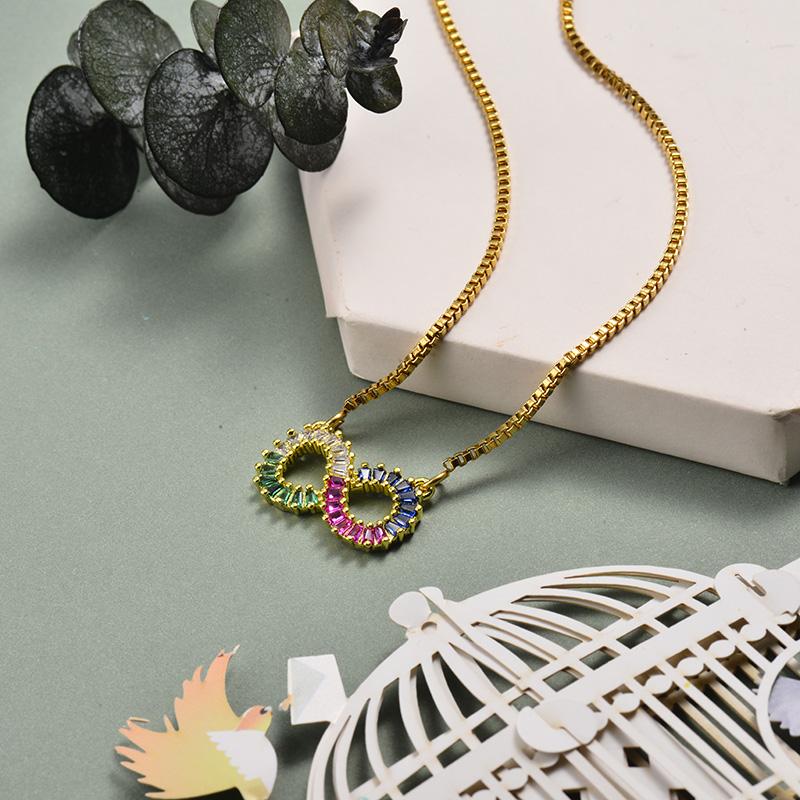 Collar de Oro con Circones -BRNEG143-21067