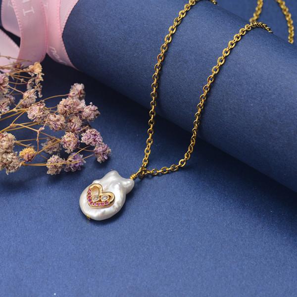 Collar de Oro con Circones -SSNEG18-20868