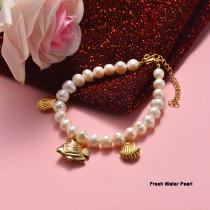 Pulsera de Acero Inoxidable en Moda para Mujer -SSBTG142-21013