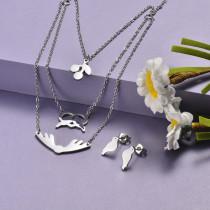 Conjunto de Acero Inoxidable para Mujer -SSCSG173-20918