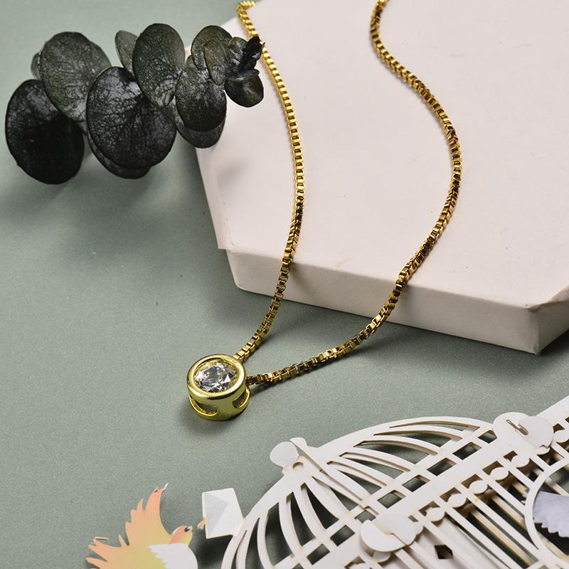 Collar de Oro con Circones -BRNEG143-21068-G