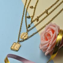 Collar de Acero Inoxidable para Mujer -SSNEG143-21065